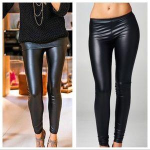 Vegan Matte Faux Leather Leggings